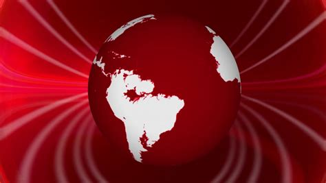 Breaking News Rotating Earth Red Motion Background Image Courtesy Of NASA Http://eol