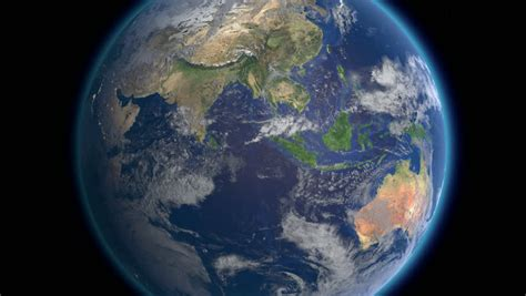 Planet Earth Rotates, Zoom To Africa 4K Ultra HD