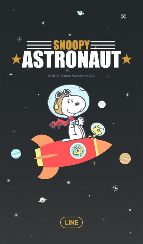 Snoopy in Space | Line Wallpaper | Snoopy wallpaper